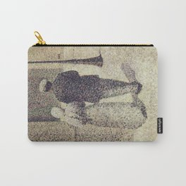 Charles Angrand - Man and Woman in the Street Carry-All Pouch