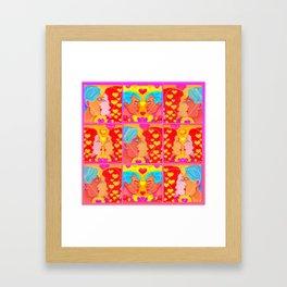 Forms of Love Quilt Framed Art Print