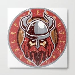 Viking Odin | Raven God Warrior Metal Print
