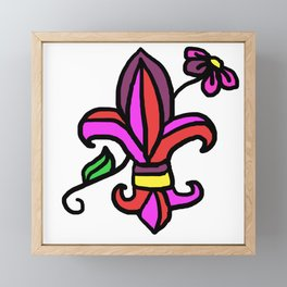 le fleur de lis Framed Mini Art Print