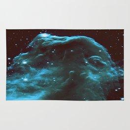 GalaXY Deep Teal Horsehead Nebula Rug