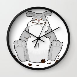Easter Chocolate Bunny - by Rui Guerreiro Wall Clock