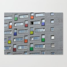 Coloured doors Canvas Print