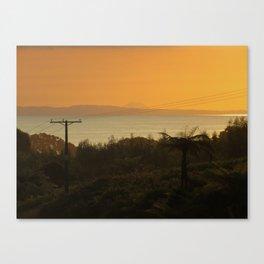 Te Kaha views featuring Putauaki - Mt Edgecombe Canvas Print