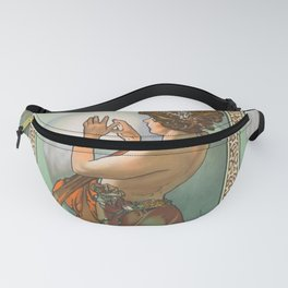 """Alphonse Mucha """"The Moon and the Stars Series: The Pole Star"""" Fanny Pack"""