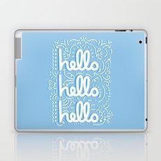 HELLO HELLO HELLO - light blue Laptop & iPad Skin