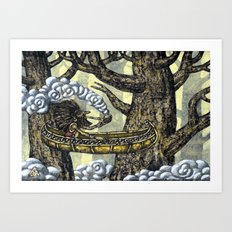 Deep in the Forest Art Print