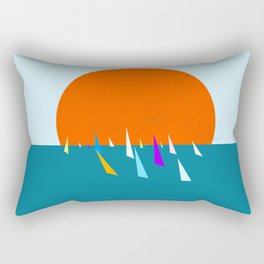 Minimal regatta in the sun Rectangular Pillow