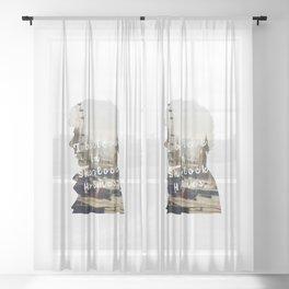 Sherlock Holmes - BBC tv show sherlock - Believe in Sherlock Sheer Curtain