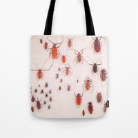 insects Tote Bags featuring Insects by Poem Ball