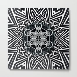 sayagata variation/metatron Metal Print