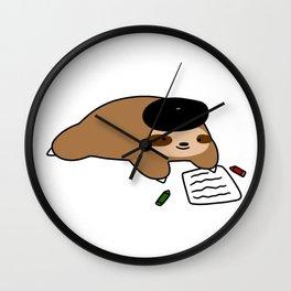 Beatnik Sloth Wall Clock