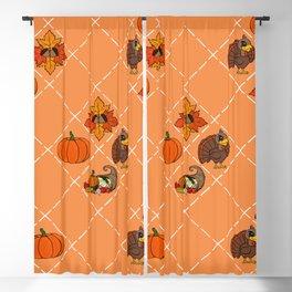 Thanksgiving Pattern Blackout Curtain