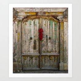 Old Ristra Door Art Print