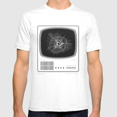 Shoot The TV - White Version Mens Fitted Tee SMALL White