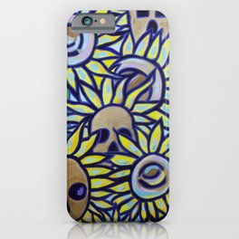 S is for Sunflowers and Skulls iPhone Case