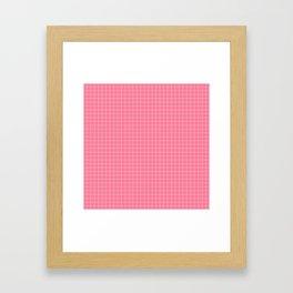 Math Homework Cute Pink Checkered Framed Art Print