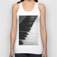 piano Tank Tops featuring piano by Falko Follert Art-FF77