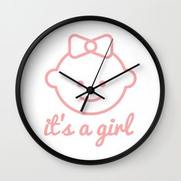 it's a girl Wall Clock