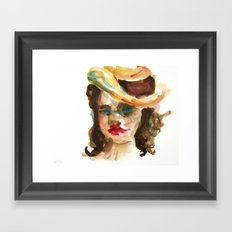 Mat Board Lady 3 Framed Art Print