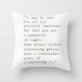 Arthur Conan Doyle quote Throw Pillow