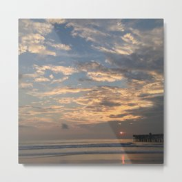Sunrise On Flagler Beach Metal Print