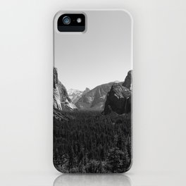 Tunnel View, Yosemite National Park III iPhone Case