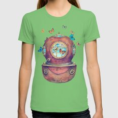 Inner Space - colour option Grass Womens Fitted Tee MEDIUM