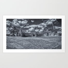 Sanssouci Palace - Potsdam, Germany Black and White Photographic Art Print