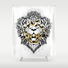 Gold Eyed Tiger Shower Curtain