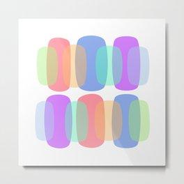 Breezy Pastel Curves Metal Print