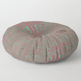 Pallid Minty Dimensions 1 Floor Pillow