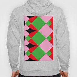 A lot of squares, some curves, colors etc... I see butterflies here. Hoody