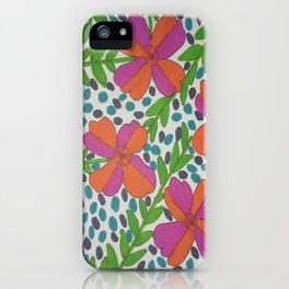 Jungle Rain Flowers iPhone Case