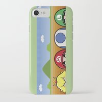 mario bros iPhone & iPod Cases featuring Mario Bros by Bazingfy