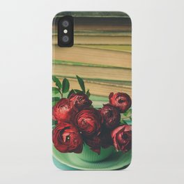 Books and Flowers iPhone Case