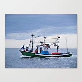 Traditional fishing boat off Tenerife in the Canary Islands Canvas Print