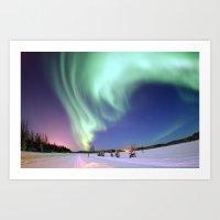 Aurora Borealis, or Northern Lights, Alaska  Art Print