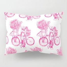 Bicycle Flower Seller in Hanoi Pillow Sham