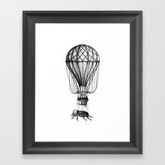 Discovery (black on white) Framed Art Print