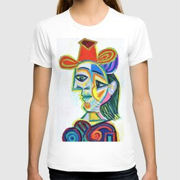 12,000pixel-500dpi - Pablo Picasso - Female bust, Dora Maar - Digital Remastered Edition T-shirt