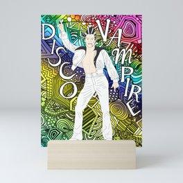 DISCO VAMPIRE HALLOWEEN OUTFIT Mini Art Print