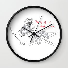 Social awareness of Dachshund Wall Clock