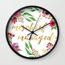 Mischief Managed Garden Wall Clock