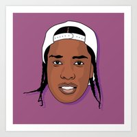 asap rocky Art Prints featuring ASAP Rocky by TheMohamz
