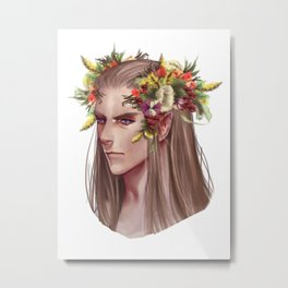 Thranduil's summer crown Metal Print