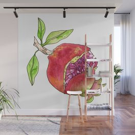 jeweled pomegranate Wall Mural