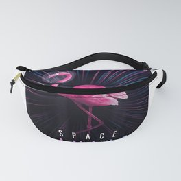 Psychodelic Space Flamingo Psychonaut - Trippy Outer Space T-Shirt Fanny Pack