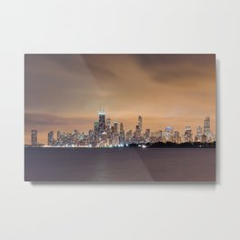 Chicago from Montrose Harbor Metal Print