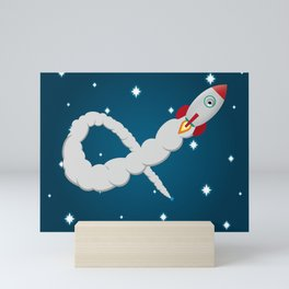 Space Rocket Launch in Space Mini Art Print